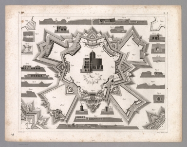 View: Plate 48. Permanent Fortifications.