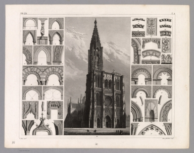 View: Plate 36. Architecture of the Middle Ages.