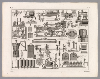 View: Plate 19. Weaving Machines and Tools.