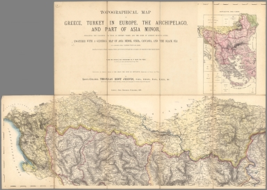 (Northwest Sheet) Topographical Map Greece, Turkey in Europe, the Archipelago and Part of Asia Minor.