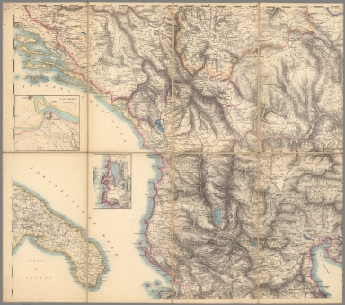 (Central West Sheet) Topographical Map Greece, Turkey in Europe, the Archipelago and Part of Asia Minor.