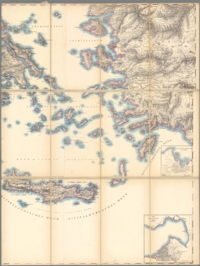 (Southeast Sheet) Topographical Map Greece, Turkey in Europe, the Archipelago and Part of Asia Minor.