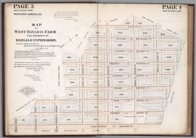 Page 3-4: Map of West Bayard Farm. Registered number 572
