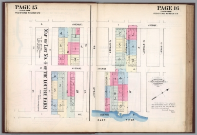Page 15-16: Map of lot 4 of the Louvre Farm. Registered number 578