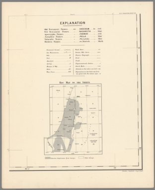 Index: P.E.F. Palestine, sheet 23. Explanation. & Key map to the sheets