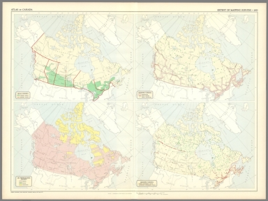 (4) Extent of mapping surveys, 1955.