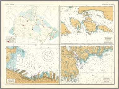 (8) Hydrographic charts.