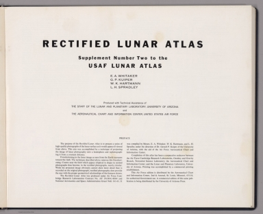 Title Page: Rectified lunar atlas.