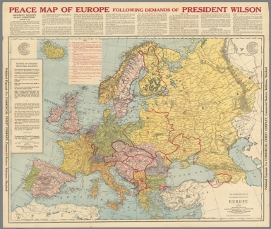 Peace Map of Europe.