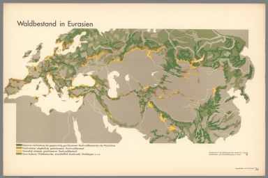 Waldbestand in Eurasien. (Forests in Eurasia).