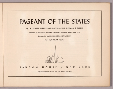 Title Page: Pageant of the states.