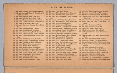 Index: List of Maps.