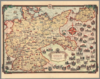 A pictorial map of Germany