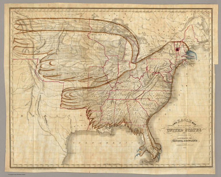 Eagle Map Of The United States David Rumsey Historical Map - How old is the united states of america