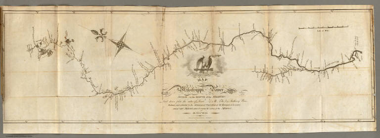 Map of the Mississippi River from its Source to the Mouth of the Missouri.