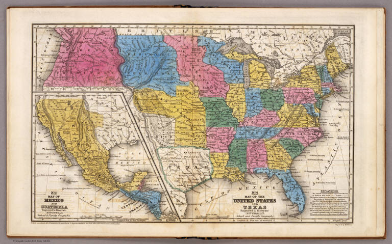 United States Texas Mexico And Guatimala David Rumsey - Historical outline map