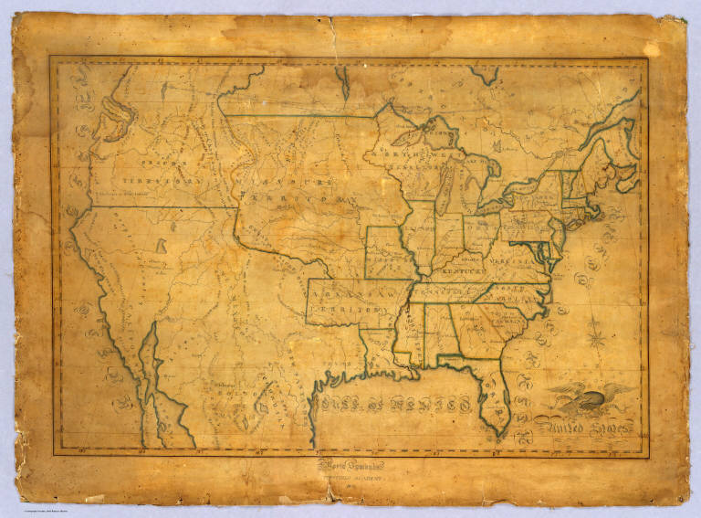 David Rumsey Historical Map Collection Th Century Maps By Children - Old us map