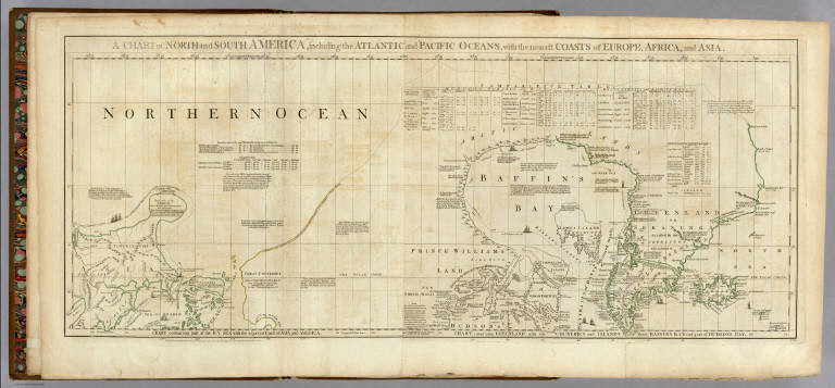 Chart containing part of the Icy Sea ... Greenland ... Islands about Baffins Bay and part of Hudsons Bay.