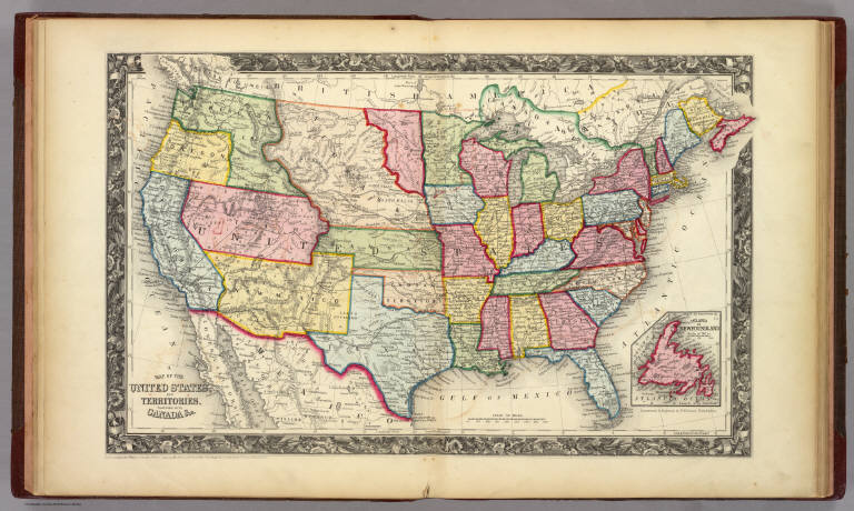 Map of the united states and territories mitchell samuel map of the united states and territories mitchell samuel augustus 1860 publicscrutiny Gallery