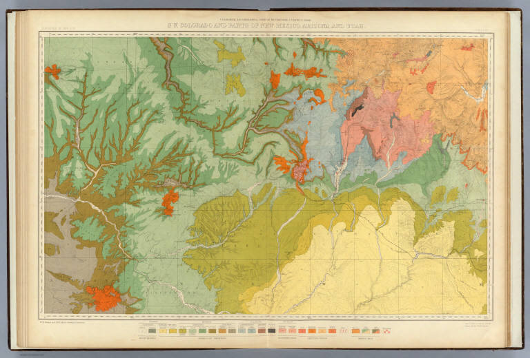 colorado and parts of new mexico arizona and utah david rumsey historical map collection