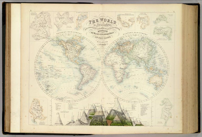 Comparative Views of the Heights of the Principal Mountains and Basins of the principal Rivers on the Globe, 1872, Fullarton