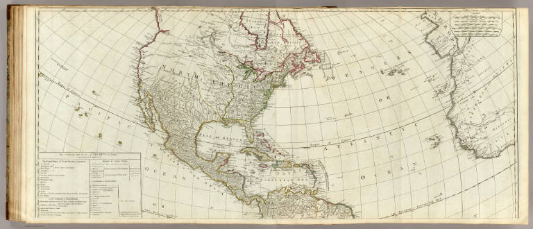 (A new map of the whole continent of America. northern section)