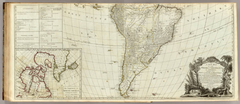 A new map of the whole continent of America (southern section)