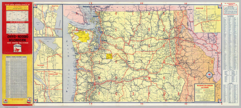 Browse All  Roads from 1940  David Rumsey Historical Map Collection