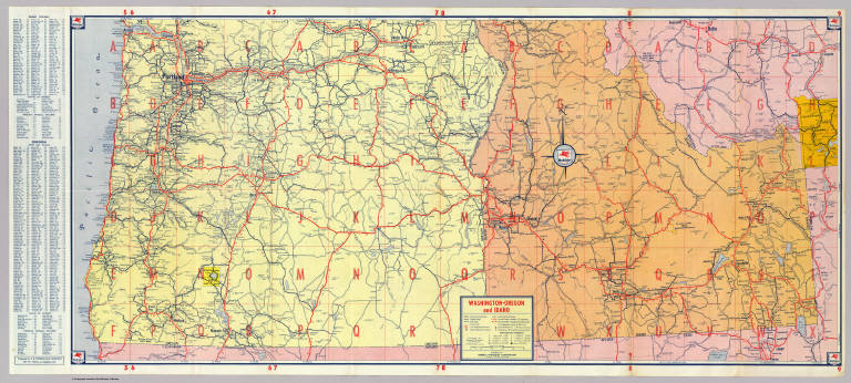 Browse All Roads From David Rumsey Historical Map Collection - Map from 1940 us