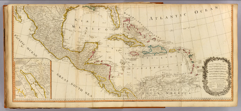 Mexico Map 1794.Browse All Atlas Map Of North America And Mexico From 1794 David