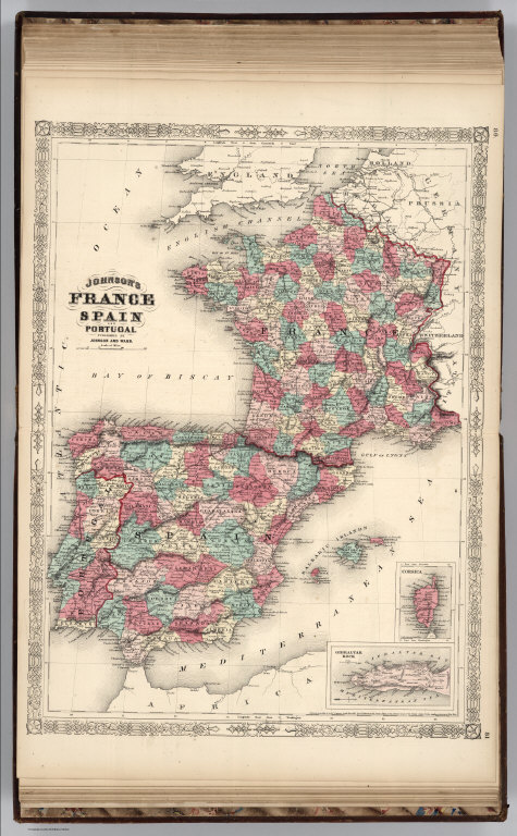 Map Of Spain And Portugal And France.France Spain And Portugal David Rumsey Historical Map Collection