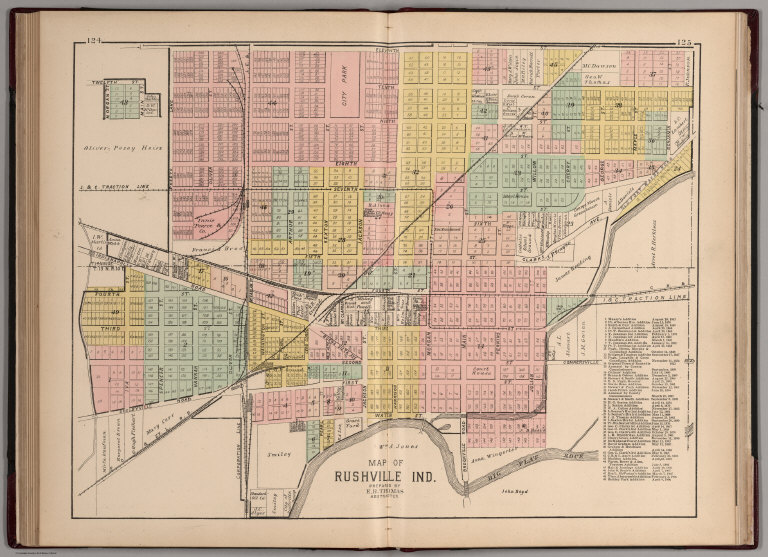 Rushville Rush County Indiana David Rumsey Historical Map