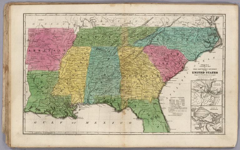 Political Map Of The Southern Division Of The United States David Rumsey Historical Map Collection