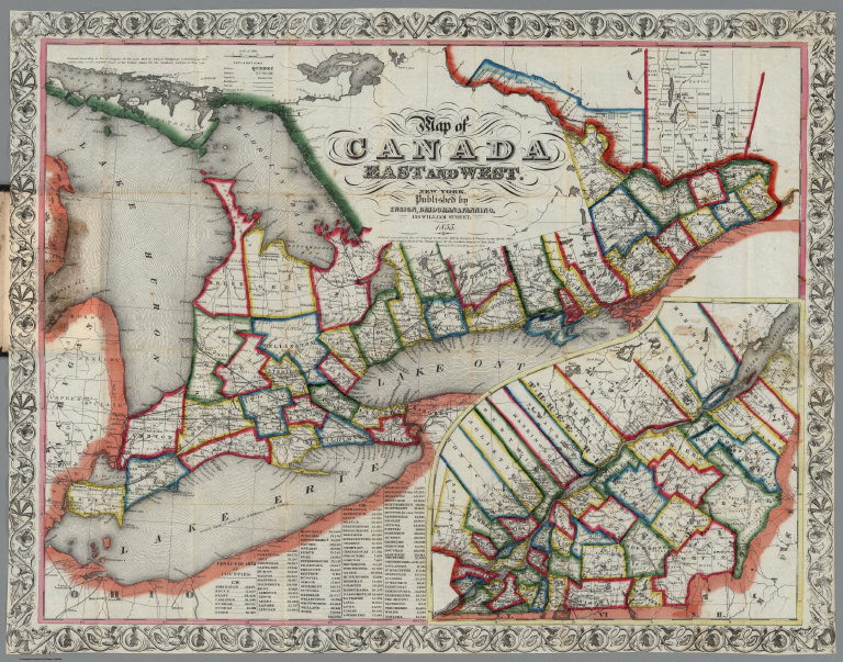 Map Of Canada East And West Canada East And West   David Rumsey Historical Map Collection