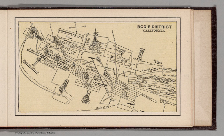 Bodie District California David Rumsey Historical Map Collection