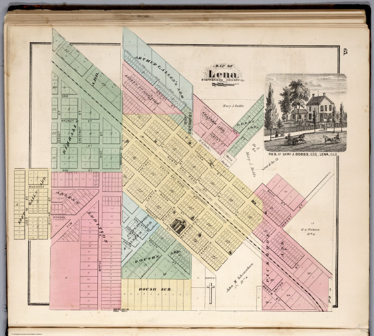 Lena Illinois David Rumsey Historical Map Collection