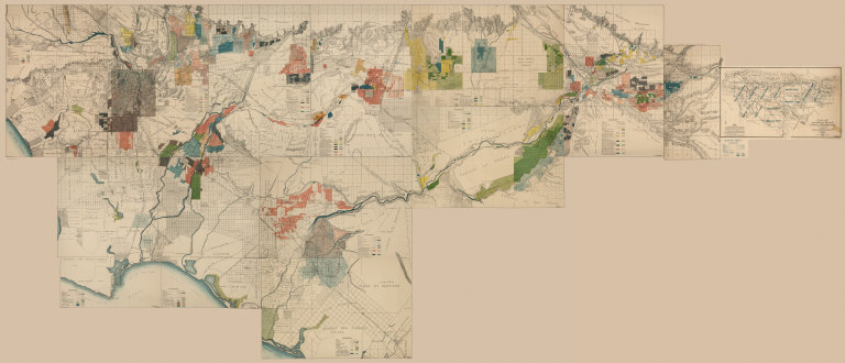 Composite: Detail Irrigation Map, Los Angeles and San Bernadino Counties, California. To Accompany Report on Irrigation and Water Supply.