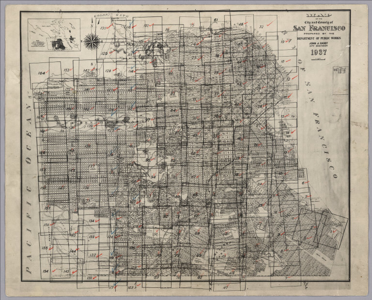 David Rumsey Historical Map Collection San Francisco Aerial