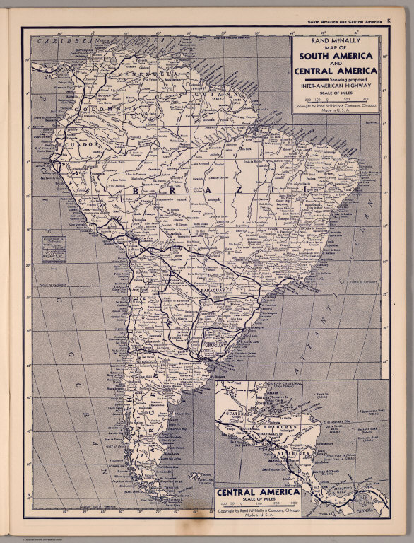 Map of South and Central America - David Rumsey Historical Map ...