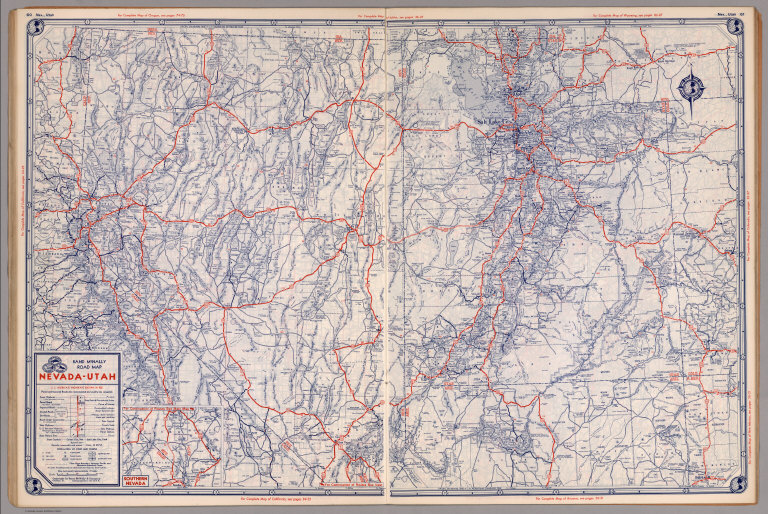 Road map of Nevada-Utah - David Rumsey Historical Map Collection