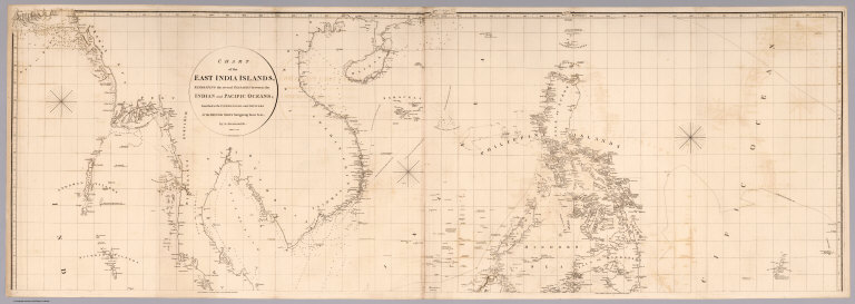 Top sheet: Chart of the East India Islands