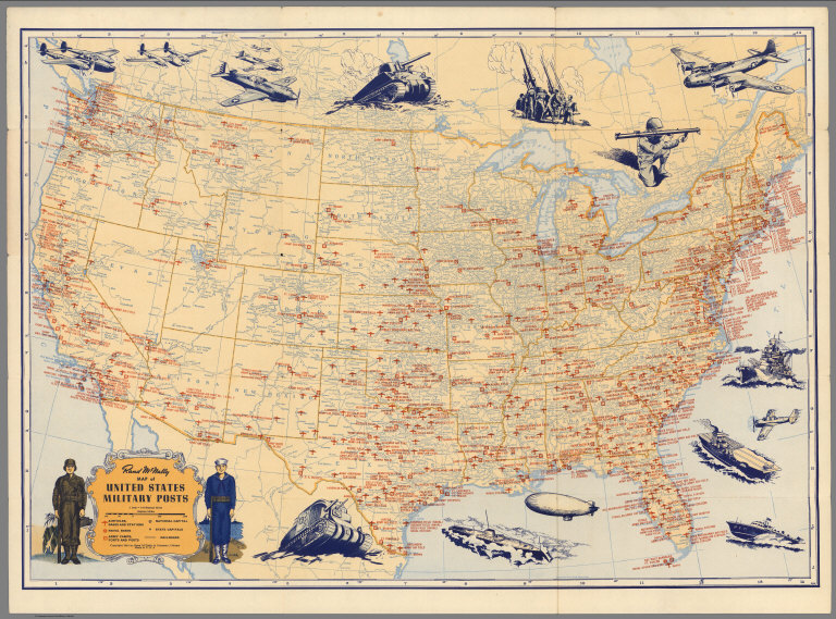 David Rumsey Historical Map Collection Over Pictorial Maps - Us road map 1930