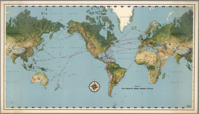 Routes of pan american world airways system david rumsey routes of pan american world airways system david rumsey historical map collection gumiabroncs Choice Image