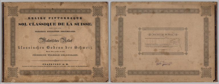 Covers: Picturesque Relief of the Classic Soil of Switzerland.