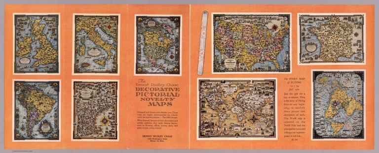Text Page: The Ernest Dudley Chase decorative pictorial novelty maps