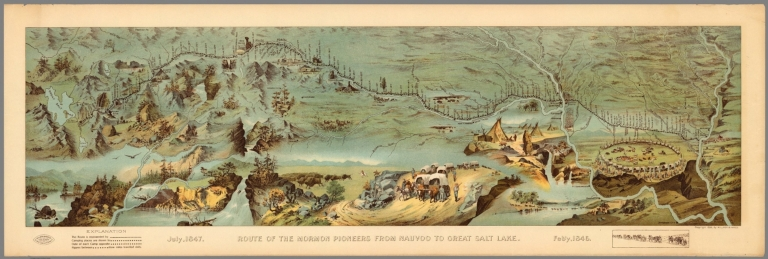 Route of the Mormon pioneers from Nauvoo to Great Salt Lake. Feb'y 1846-July 1847