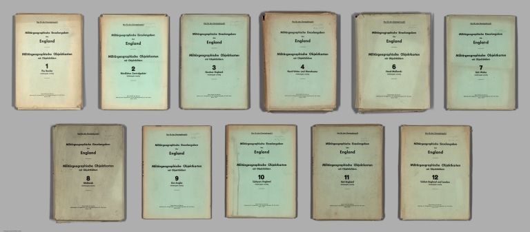 Covers: Set of German documents prepared for the invasion of England and Wales.
