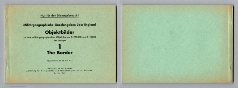 Covers: Images of the Military-Geographic Objectives on Maps for The Border, Scotland-England.