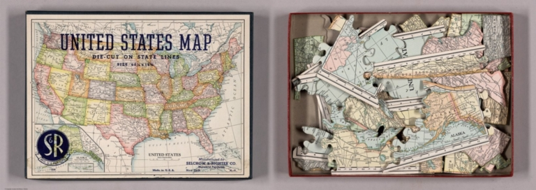 Box Cover: United States map. Die-Cut on State Lines.