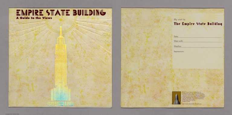 Covers: Empire State Building. A Guide to the Views.